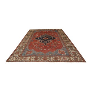 Magnificent 19th Century Fourteen Foot Heriz Rug For Sale