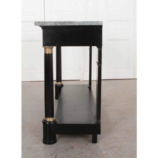French 19th Century Second Empire Ebonized Console and Mirror For Sale In Baton Rouge - Image 6 of 13