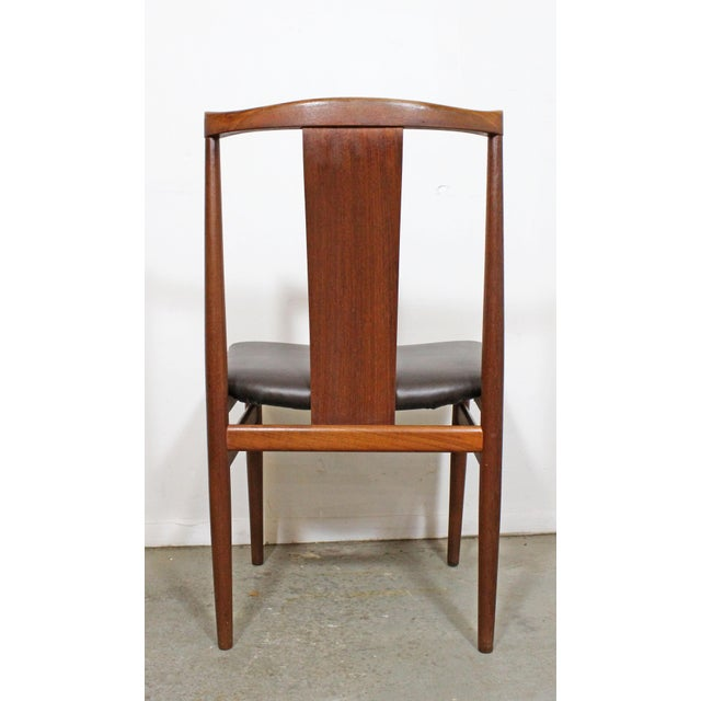 Mid 20th Century Set of 4 Mid-Century Modern Folke Ohlsson Style Teak Dining Chairs For Sale - Image 5 of 13