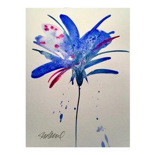 """Botanical Blue 2"" Original Watercolor For Sale"