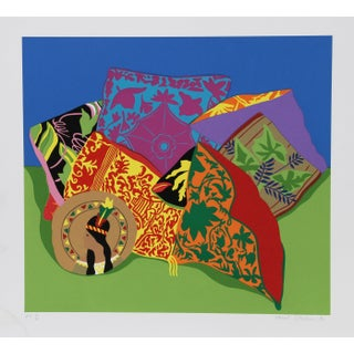 "1980s Hunt Slonem, ""Pillow Garden"", Pop Art Screenprint For Sale"