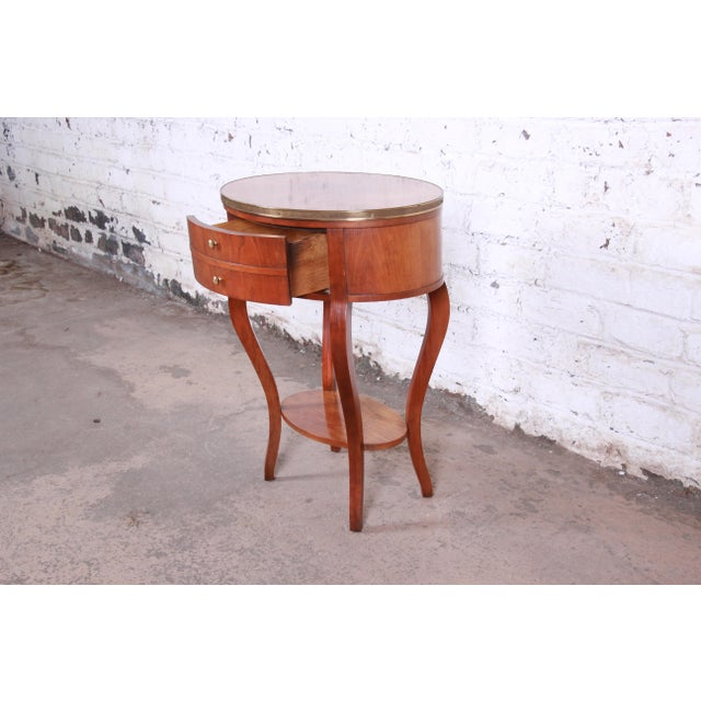 Gold Baker Furniture French Regency Mahogany and Brass Side Table For Sale - Image 8 of 13
