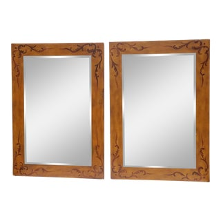 Vintage Italian Venetian Style Mirrors - A Pair For Sale