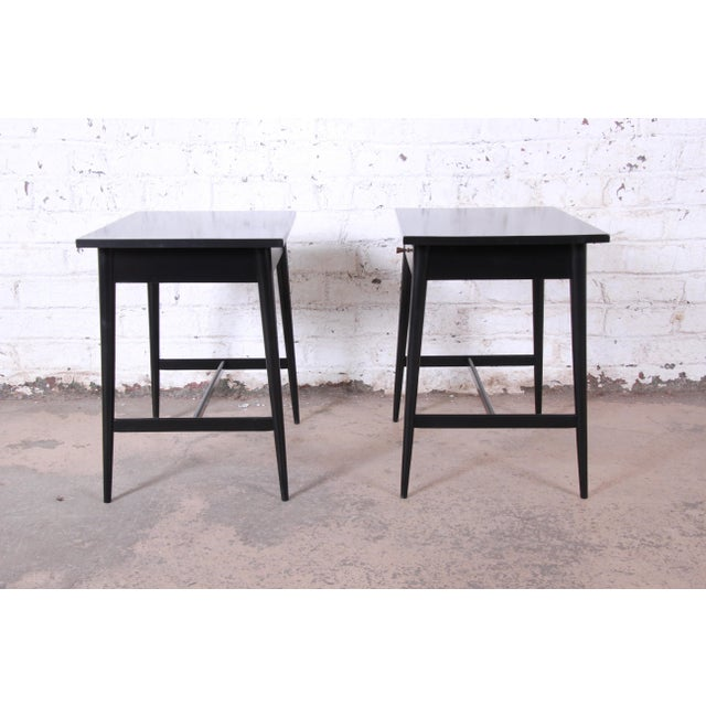 Paul McCobb Planner Group Nightstands or End Tables - a Pair For Sale - Image 11 of 12
