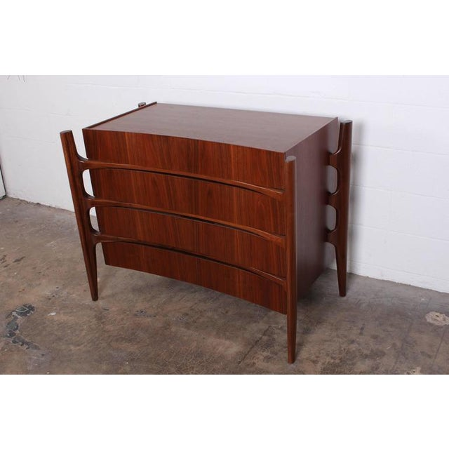 Walnut Curved Front Dresser Designed by William Hinn - Image 3 of 10