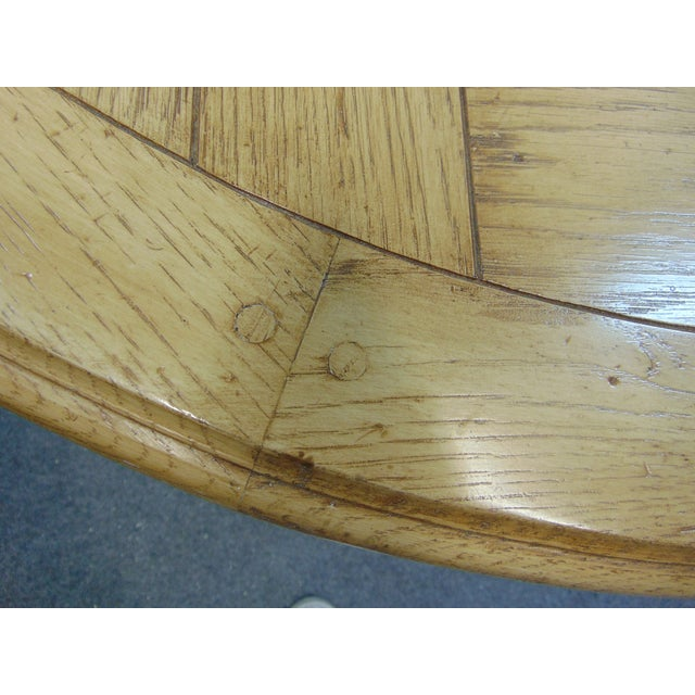 Late 20th Century Country French Cursed Oak Dining Tbale For Sale - Image 5 of 6