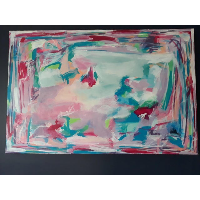 """Canvas """"Perfect Alignment"""" Abstract Art on Canvas by Michelle Chong For Sale - Image 7 of 12"""