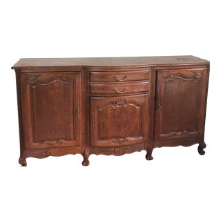 19th Century French Louis XV Parquet Top Sideboard For Sale