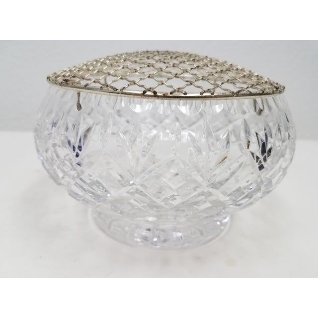 Antique English Crystal Flower Frog With Gold Top For Sale In Dallas - Image 6 of 6