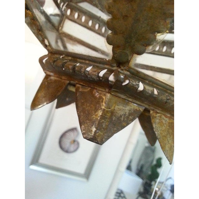 Spanish Mid-Century Spanish Colonial Style Chandelier For Sale - Image 3 of 12