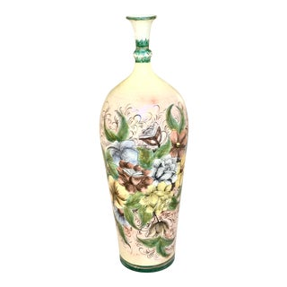Chinoiserie Tall Foral Vase