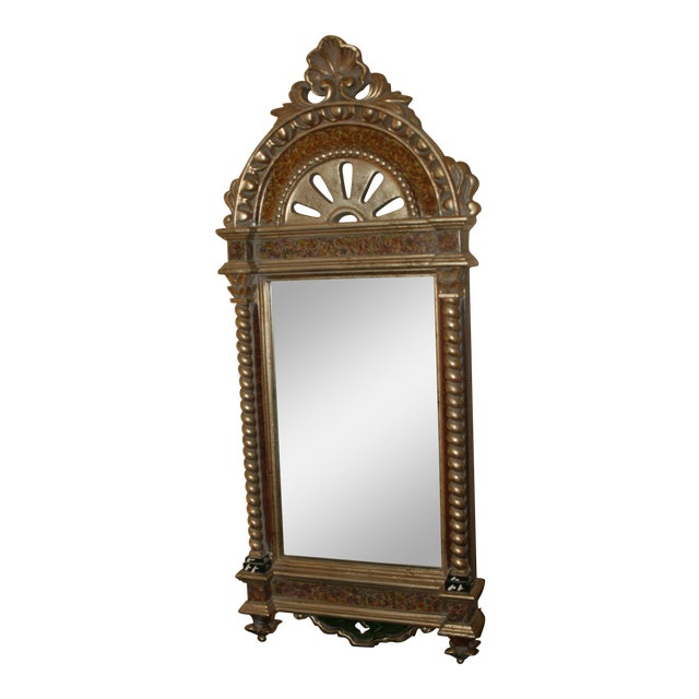 Classical Styled Niche Mirror With Color Accents For Sale