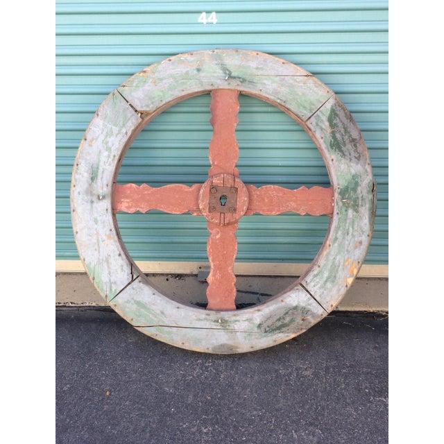 Vintage French Wagon Wheel - Image 2 of 5