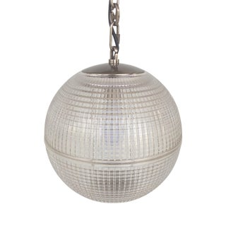 Late 20th Century Intertek Glass Globe Pendant Light For Sale