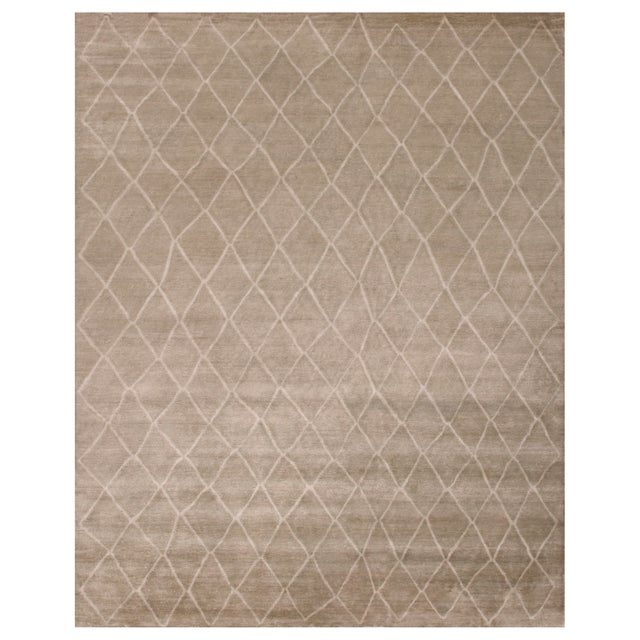 Stark Studio Rugs Stark Studio Rugs Contemporary Oriental 100% Bamboo Silk Rug - 9' X 12' For Sale - Image 4 of 4