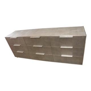 Restoration Hardware Saunderson Shagreen 9-Drawer Dresser For Sale
