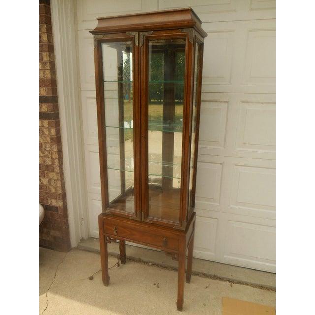 Century Furniture Oriental-Style Lit Curio - Image 2 of 7