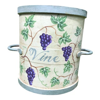 Antique Painted Cheese Press Bucket For Sale