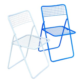"""Niels Gammelgaard """"Ted Net"""" Folding Chairs - a Pair For Sale"""