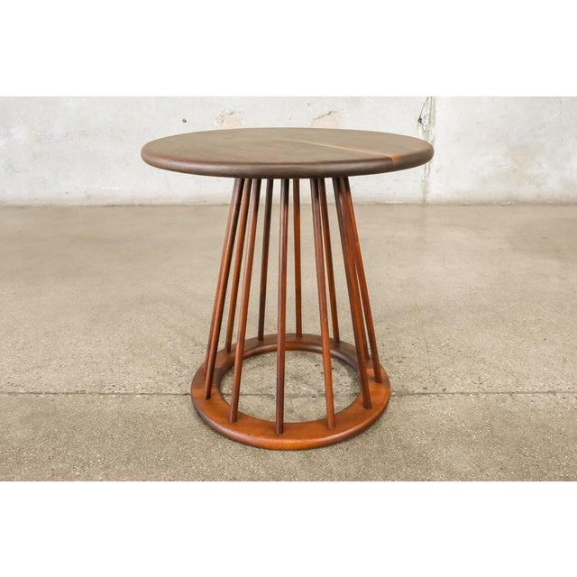 Mid-Century Modern Walnut Spindle Table by Arthur Umanoff For Sale - Image 3 of 4