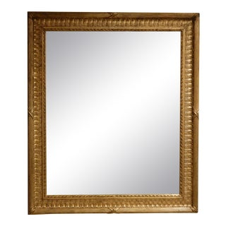 19th Century French Gold Gilt Mirror For Sale