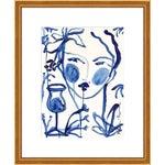 "Medium ""Flowers & Wine Indigo"" Print by Leslie Weaver, 17"" X 21"""