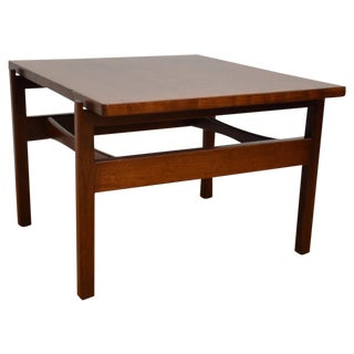 Jens Risom Mid-Century Walnut End Table For Sale