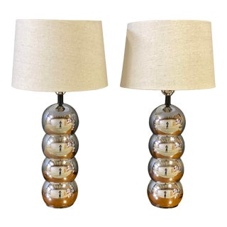 1950s Mid-Century George Kovacs Chrome Caterpillar Table Lamp - a Pair For Sale