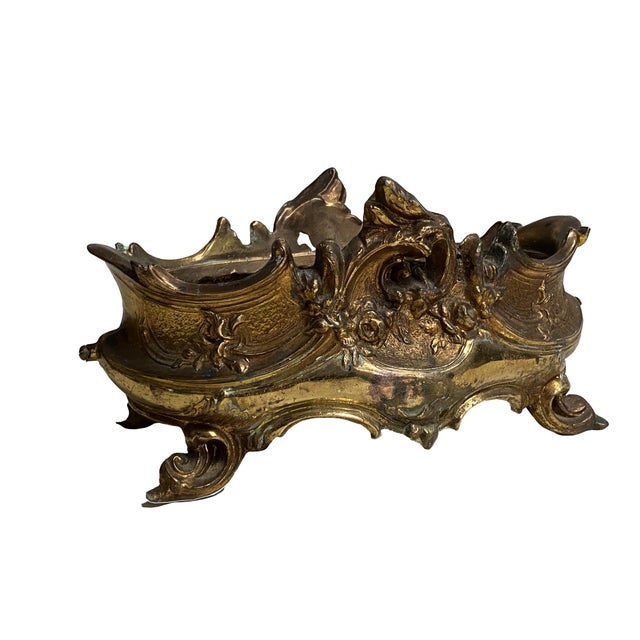 French Brass Rococo Jardiniere For Sale - Image 4 of 5