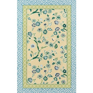 """Madcap Cottage Under a Loggia Blossom Dearie YellowIndoor/Outdoor Area Rug 3'9"""" X 5'9"""" For Sale"""
