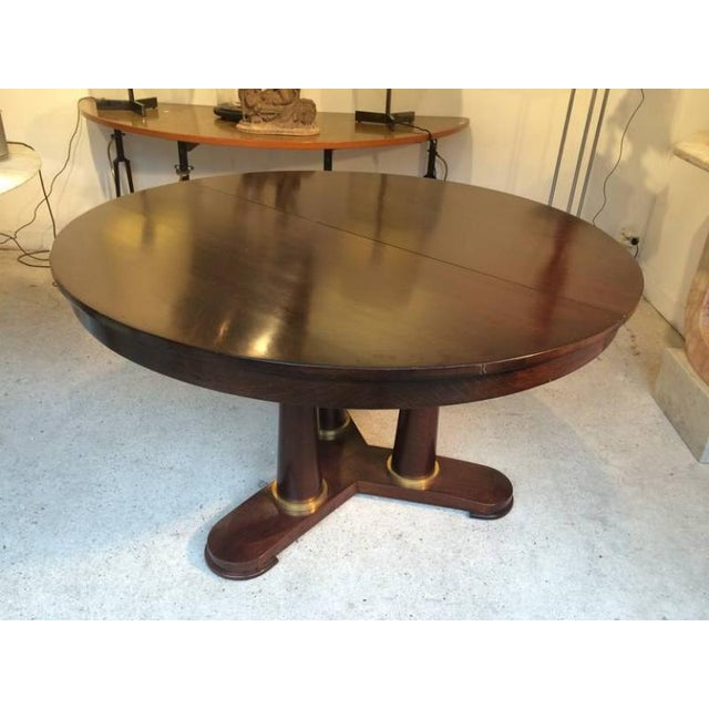 French Jean Royère Genuine Tripod Round Dinning Table With Tri-Pedestal Base For Sale - Image 3 of 6