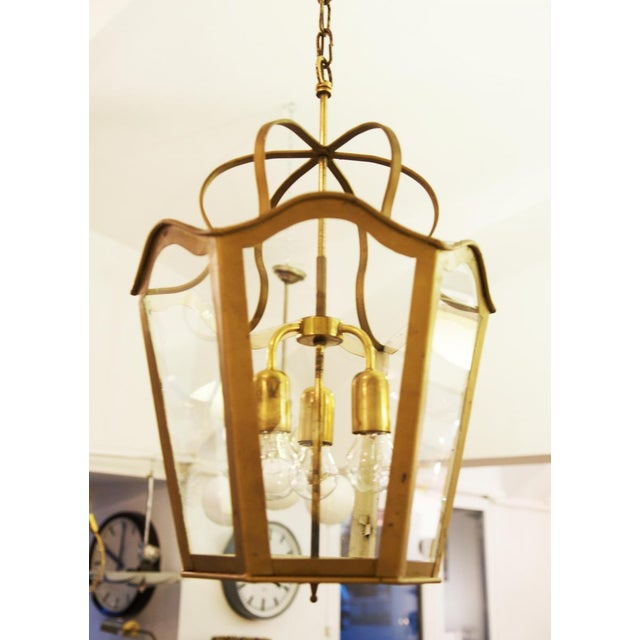 Large Viennese Art Nouveau hanging lamp, 1965 For Sale - Image 6 of 11