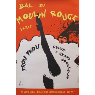 Vintage 1960s Moulin Rouge Poster by Rene Gruau For Sale