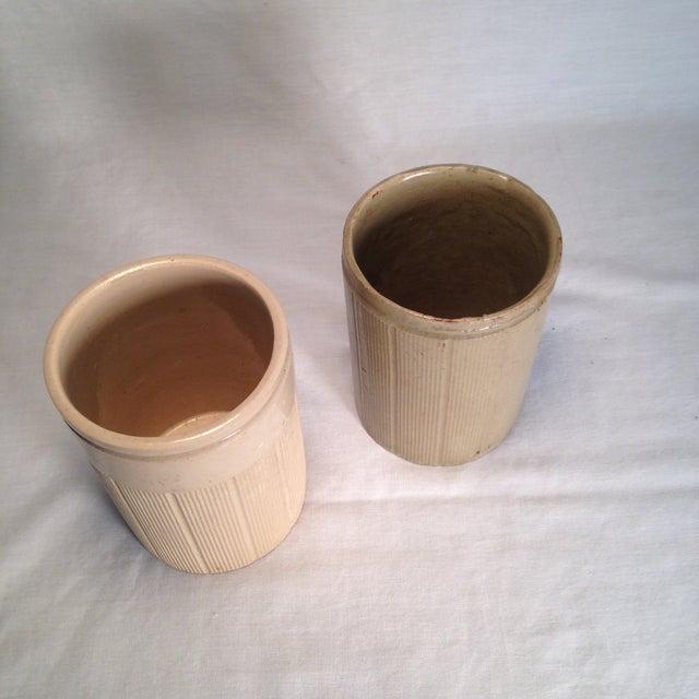 Vintage English Crock Storage Jars - a Pair - Image 3 of 4