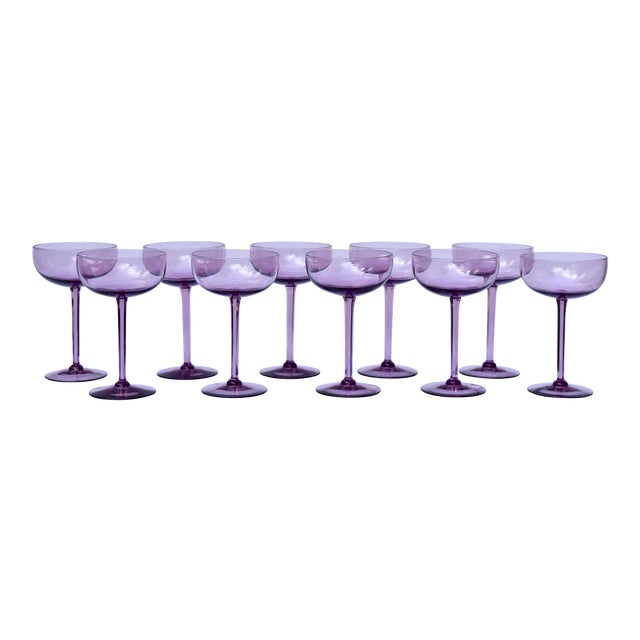 Amethyst Crystal Champagne Coupes For Sale