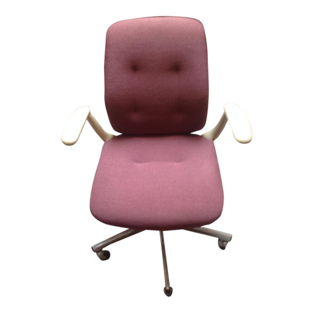 Mid-Century Steelcase Chrome Office Chair - Image 1 of 9