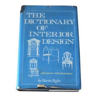 Mid Century ''The Dictionary of Interior Design'' Reference Book For Sale