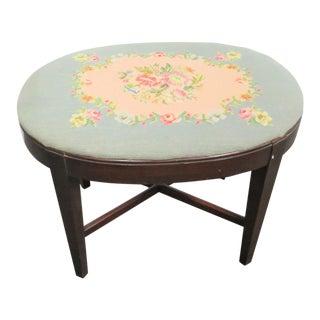 Kindel Hepplewhite Mahogany Vanity Bench For Sale