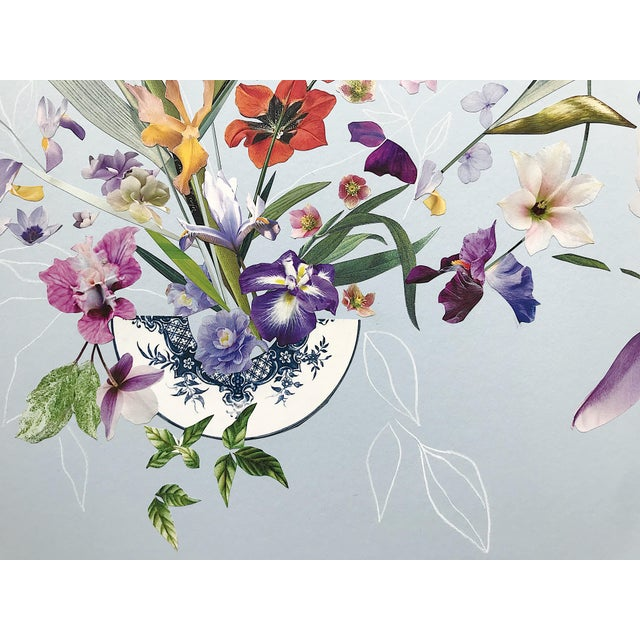 "Marcy Cook ""Umbrian Light"" Original Fine Art Collage For Sale - Image 4 of 4"
