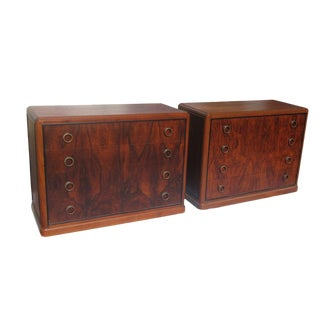 Art Deco Rosewood Nightstand Drawers For Sale