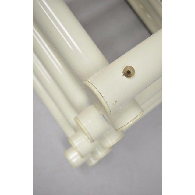 Vintage Mid-Century Modern Tubular Stacked Metal Tube Coffee Side Table Base - Image 10 of 11