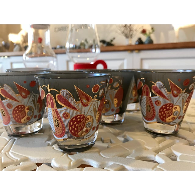 Vintage Georges Briard Double Shot Glasses - Set of 8 - Image 4 of 8