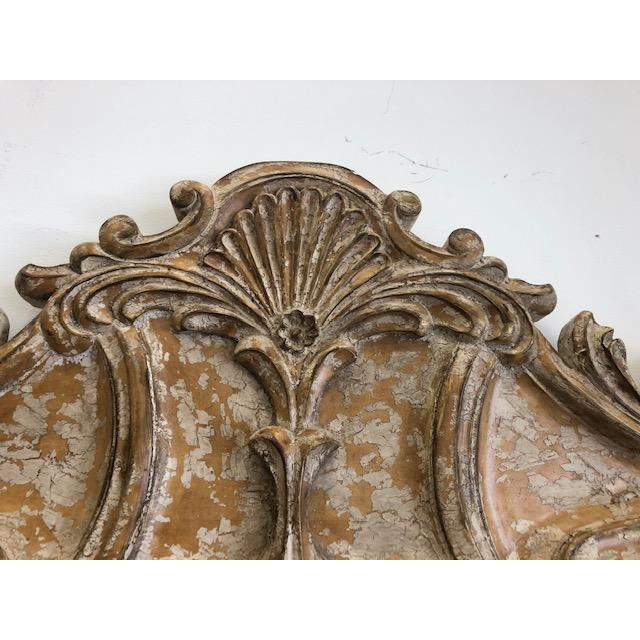 Wood Late 20th Century Overscaled Hand Carved Wood Neoclassical Mirror For Sale - Image 7 of 13