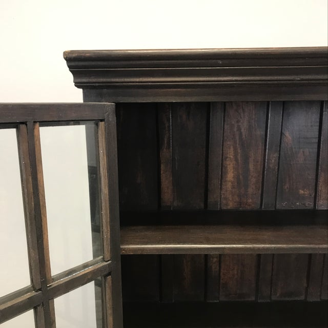 Crate & Barrel Wood Glass Door Wall Unit For Sale In Chicago - Image 6 of 9