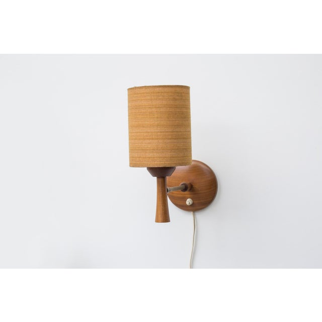 Mid-Century Teak and Brass Wall Lamp - Image 2 of 11