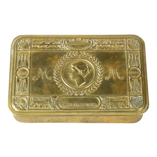 Early 20th Century Brass Queen Mary Box For Sale