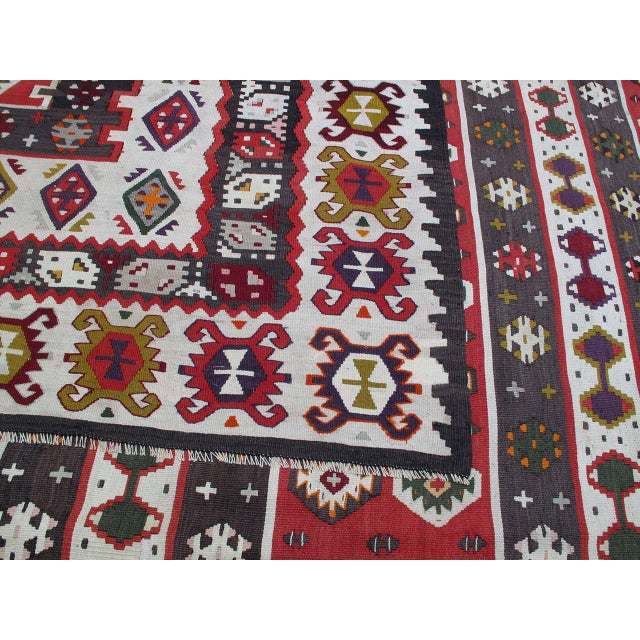 1950s Balkan Kilim For Sale - Image 5 of 9
