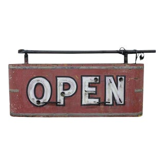 "Double Sided Neon ""Open"" Sign For Sale"