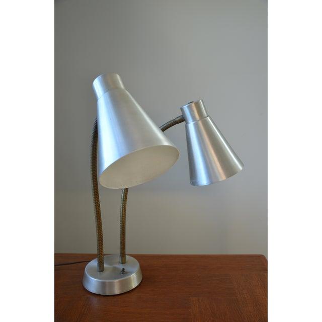 Mid-Century Double Gooseneck Desk Lamp For Sale In Richmond - Image 6 of 10