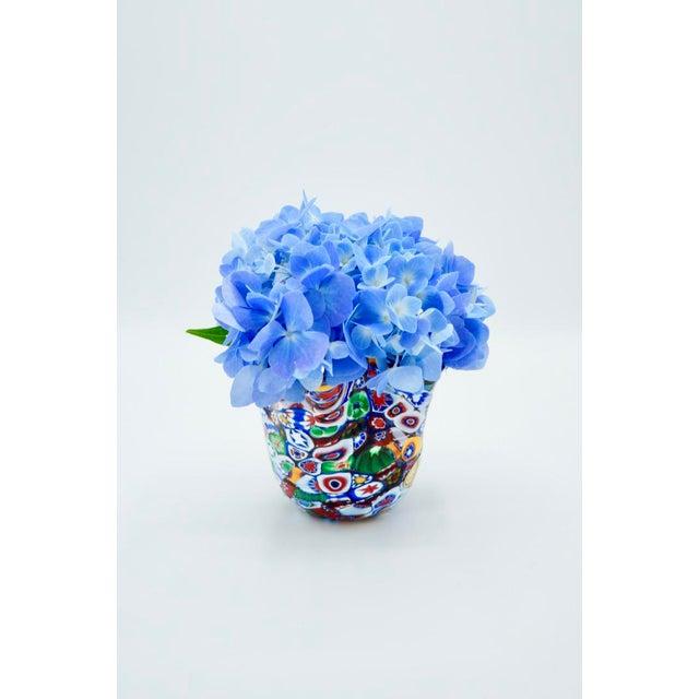 Murano Vintage Murano Millefiori Handkerchief Vase For Sale - Image 4 of 12